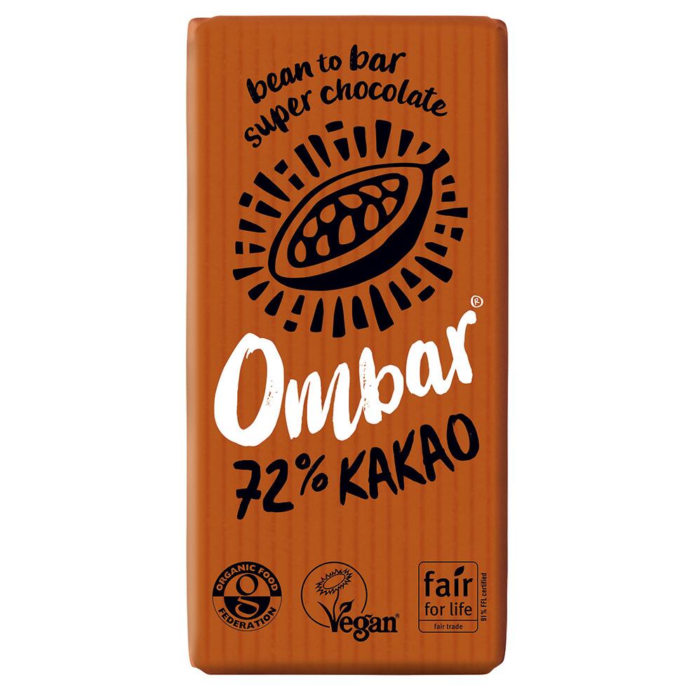 Ombar probiotic dark 72% 35 gr