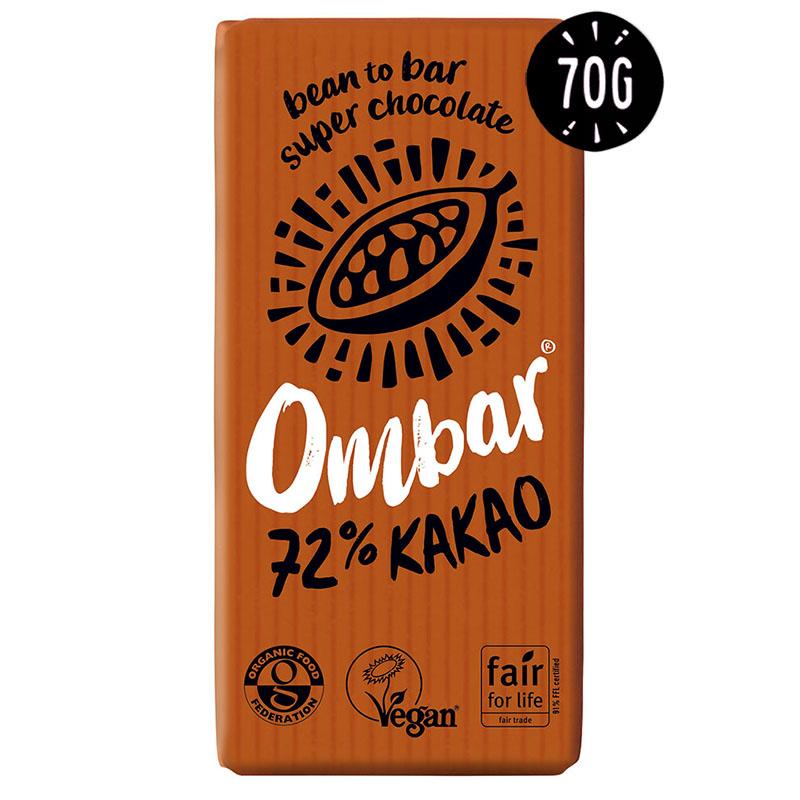 Ombar probiotic dark 72% 70 gr