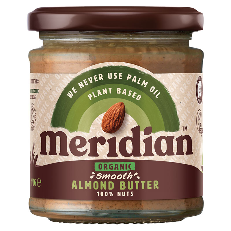 Meridian organic smooth almond butter 170 gr