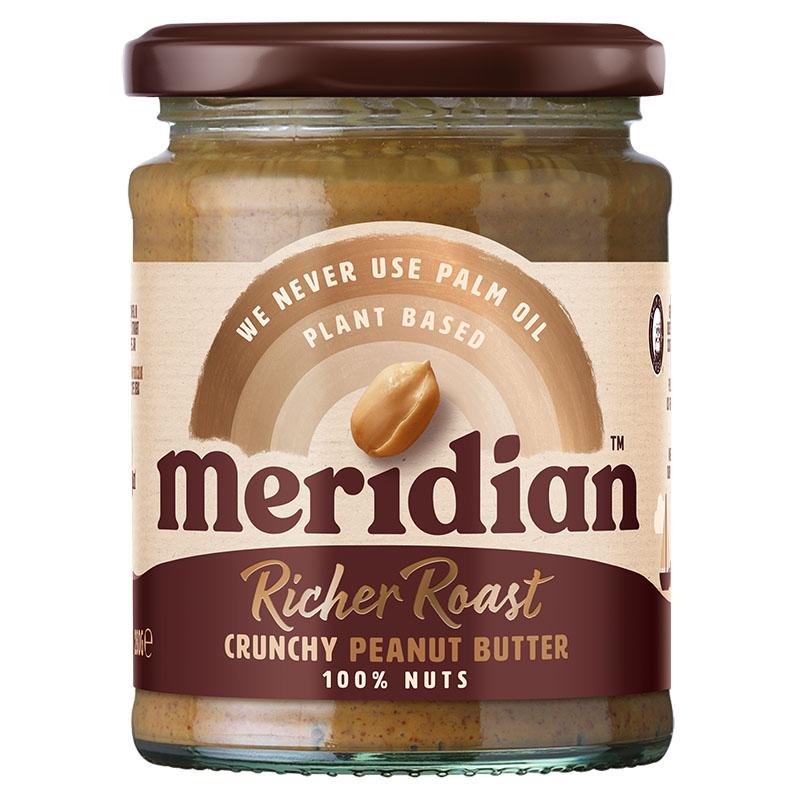 Meridian peanut butter crunchy richer roast 280 gr