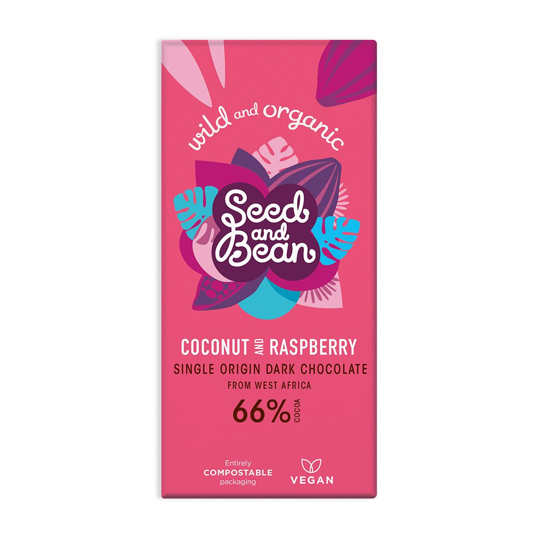 Seed and Bean chocolate coconut and raspberry 85 gr