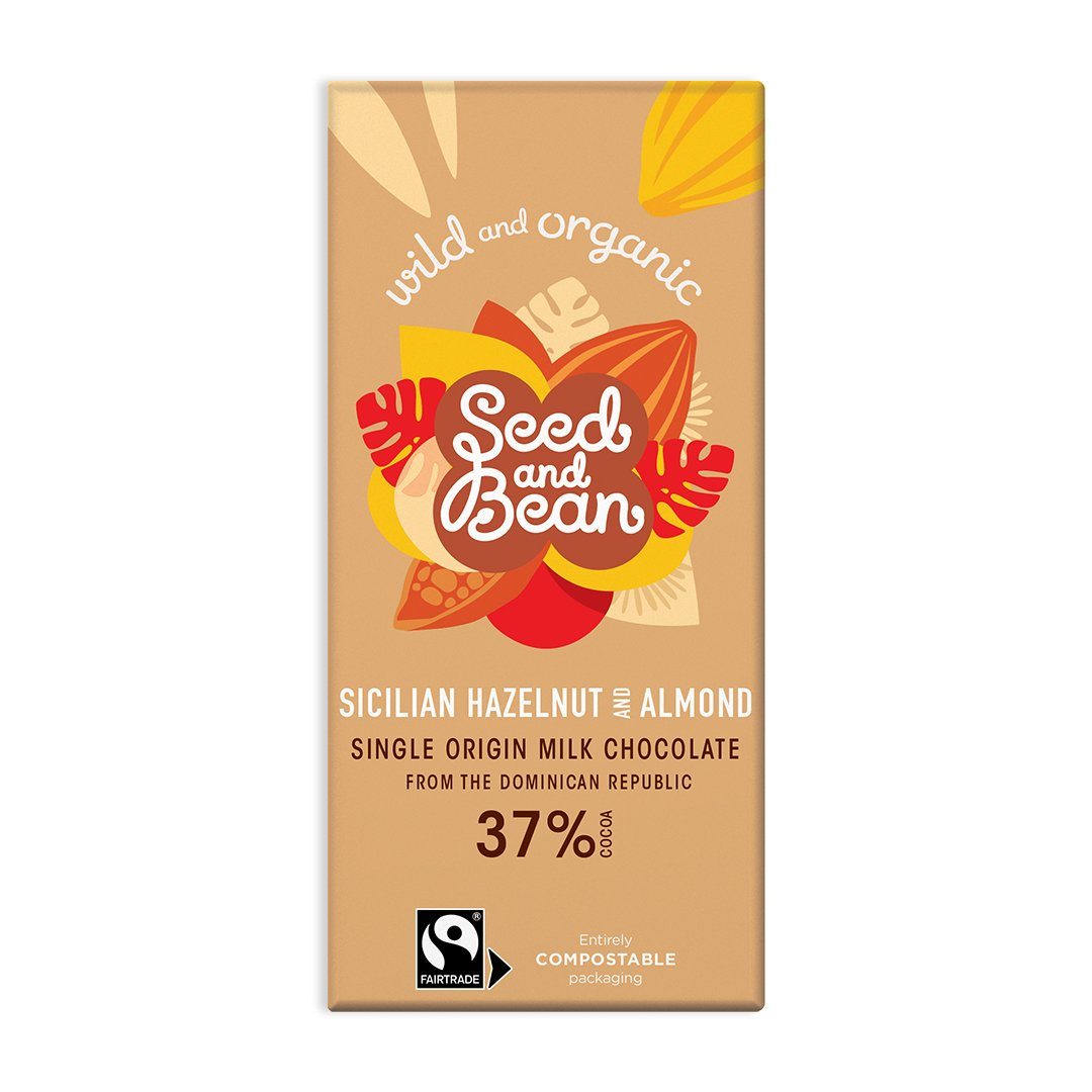 Seed and Bean sicilian hazelnut and almond 85 gr