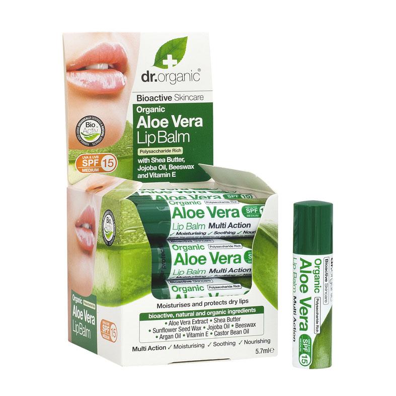 Dr. Organic aloe vera lip balm 5,7 ml
