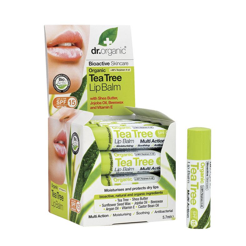 Dr. Organic tea tree lip balm 5,7 ml