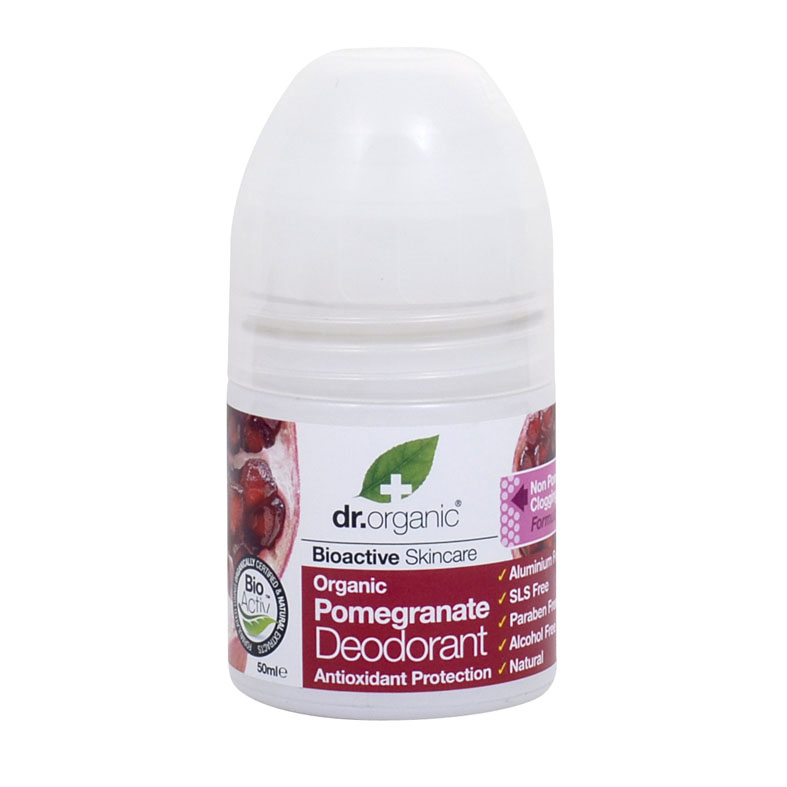 Dr. Organic pomegranate deo roll on 50 ml