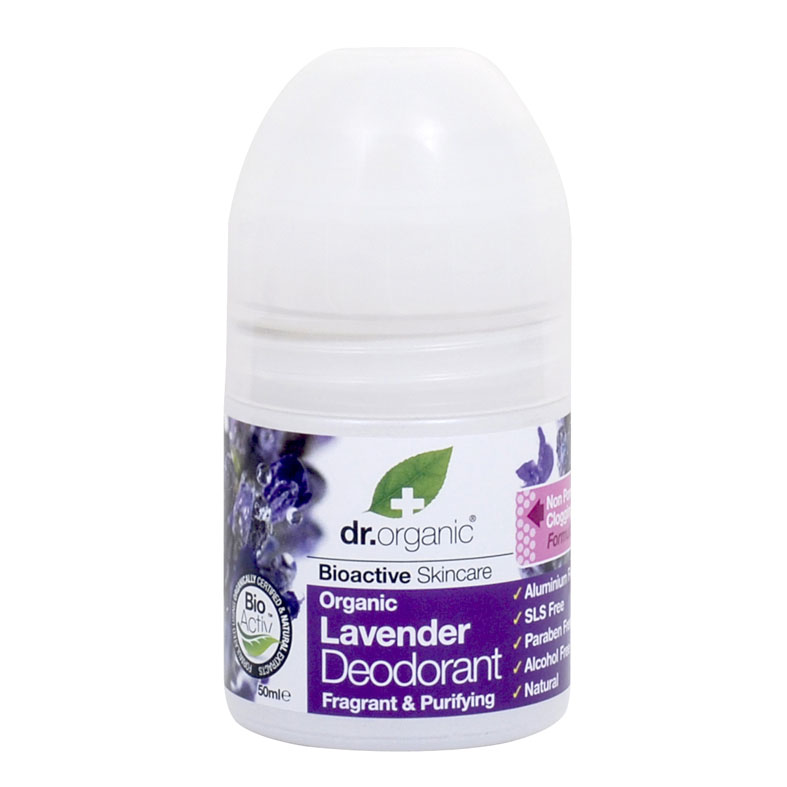 Dr. Organic lavender deo roll on 50 ml