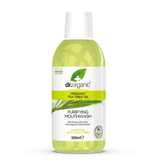 Dr. Organic tea tree mouthwash 500 ml