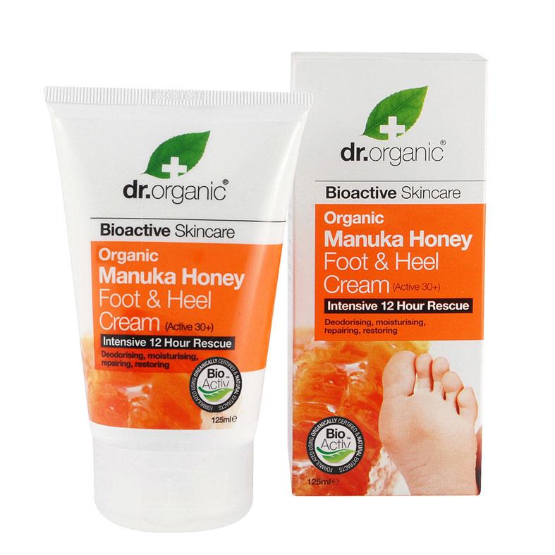 Dr. Organic foot & heel cream manuka honey 125 ml