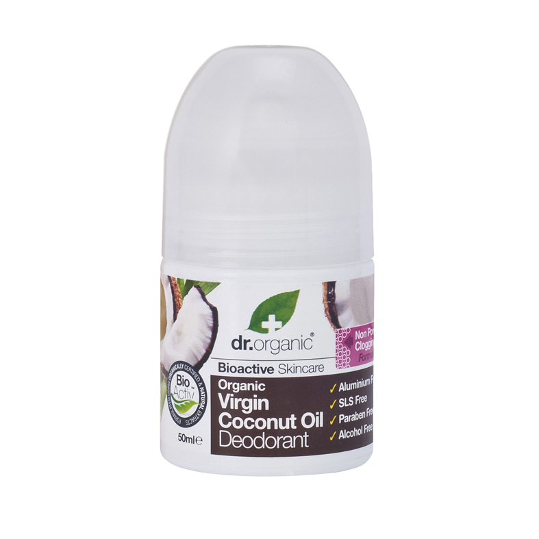 Dr. Organic virgin coconut oil deo roll on 50 ml
