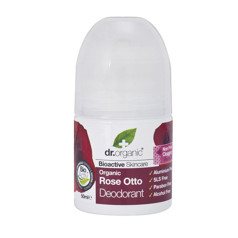 Dr. Organic rose otto deo roll on 50 ml