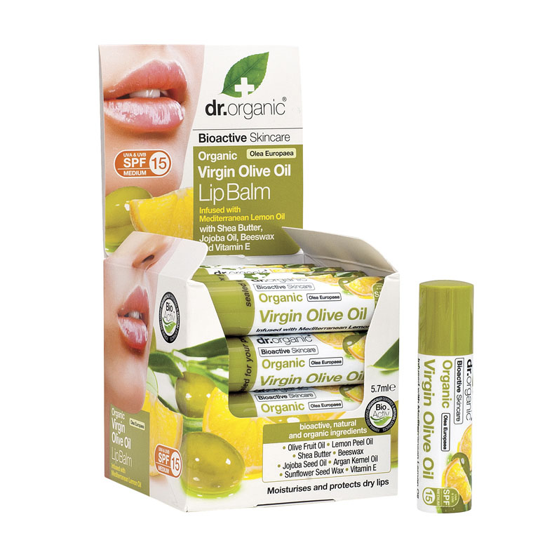 Dr. Organic virgin olive oil lip balm 5,7 ml