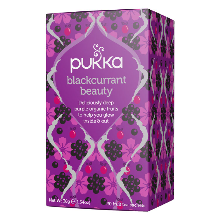 Pukka blackcurrant beauty te 20 poser