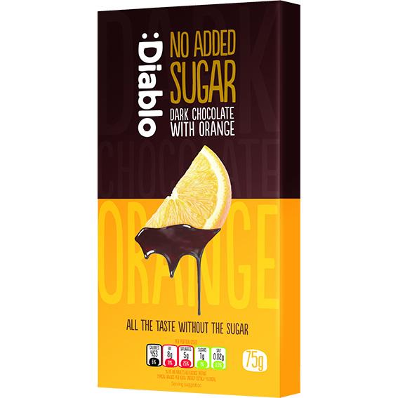 Diablo dark chocolate with orange 75 gr