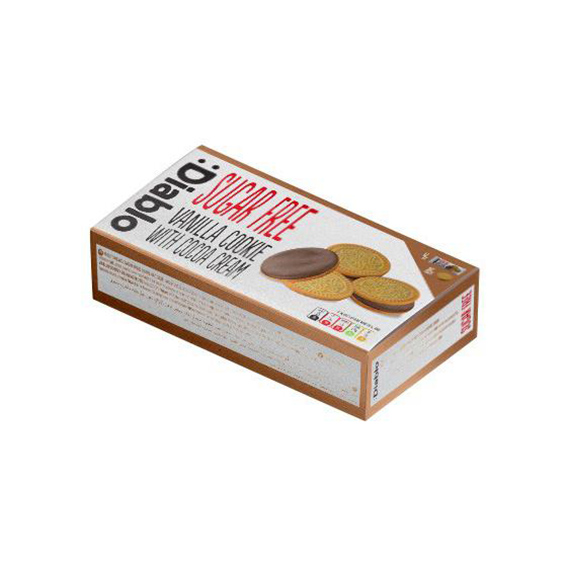 Diablo vanilla sandwich cookie with cocoa cream 176 gr