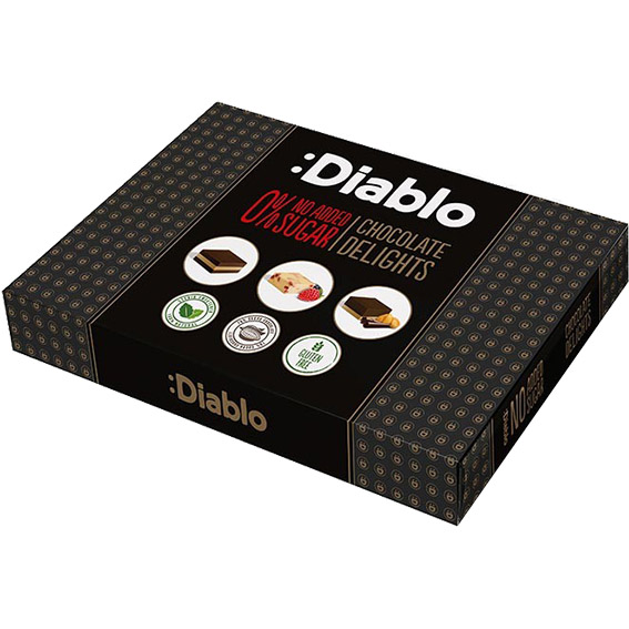 Diablo chocolate delights box with stevia 115 gr