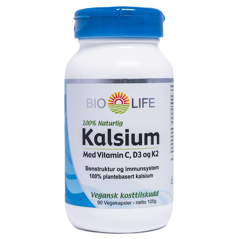 Bio-Life kalsium med vitamin C, D3 & K2 90 kap