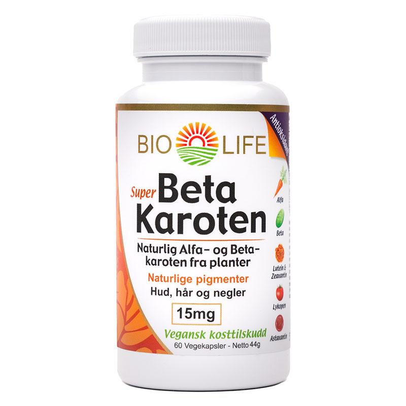 Bio Life super betakaroten 15 mg 60 kap
