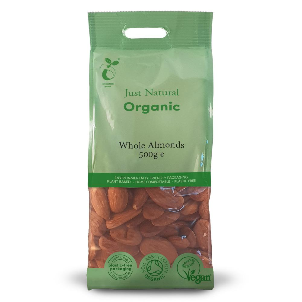 Just Natural organic whole almonds 500 gr