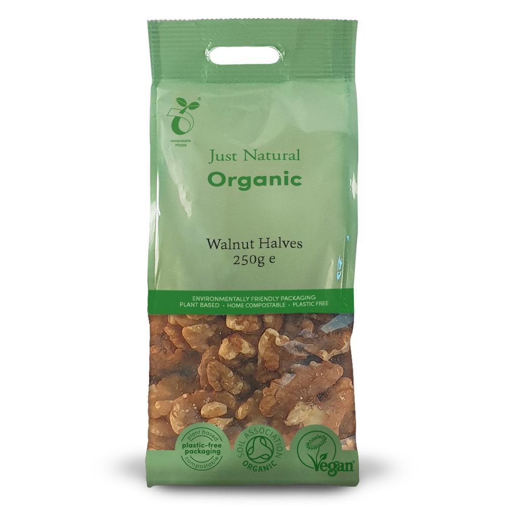 Just Natural walnut halves 250 gr