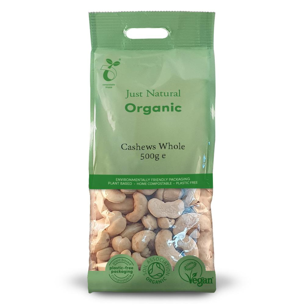 Just Natural organic whole cashews 500 gr