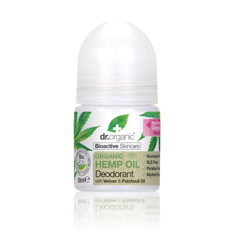 Dr. Organic deo roll on hemp oil 50 ml