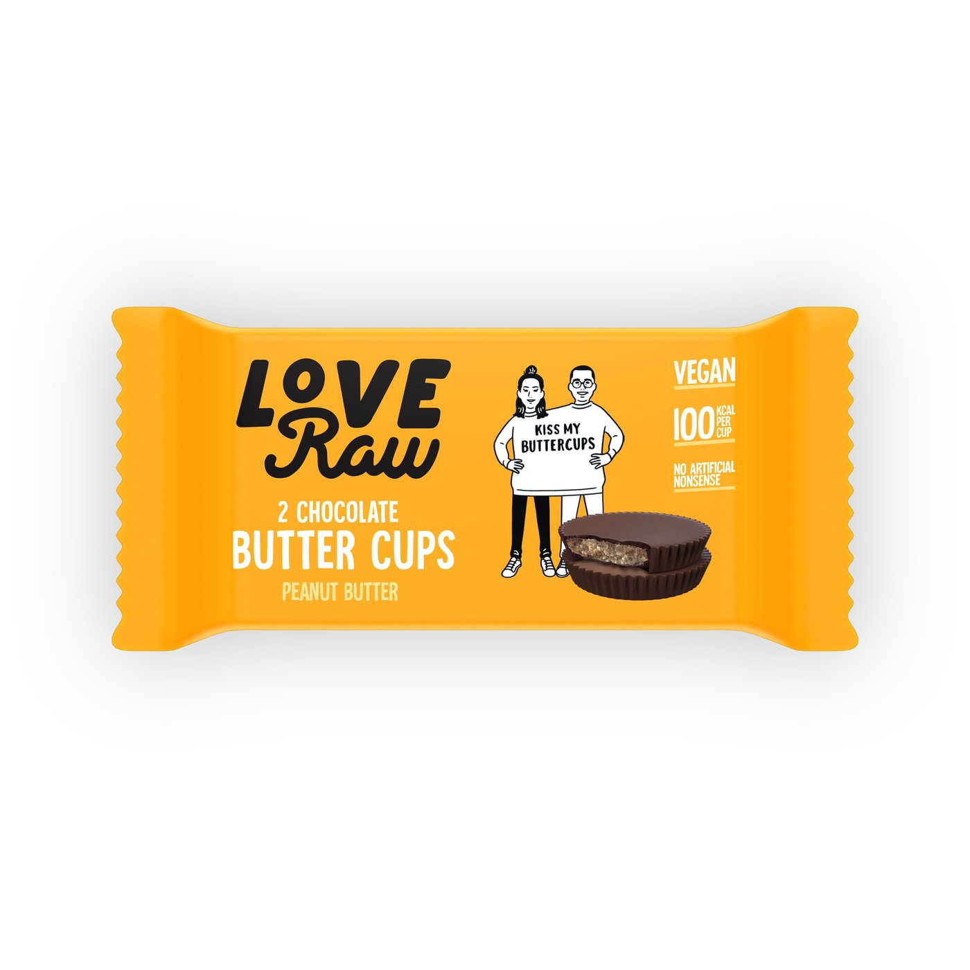 Love Raw vegan peanut butter cups 34 gr