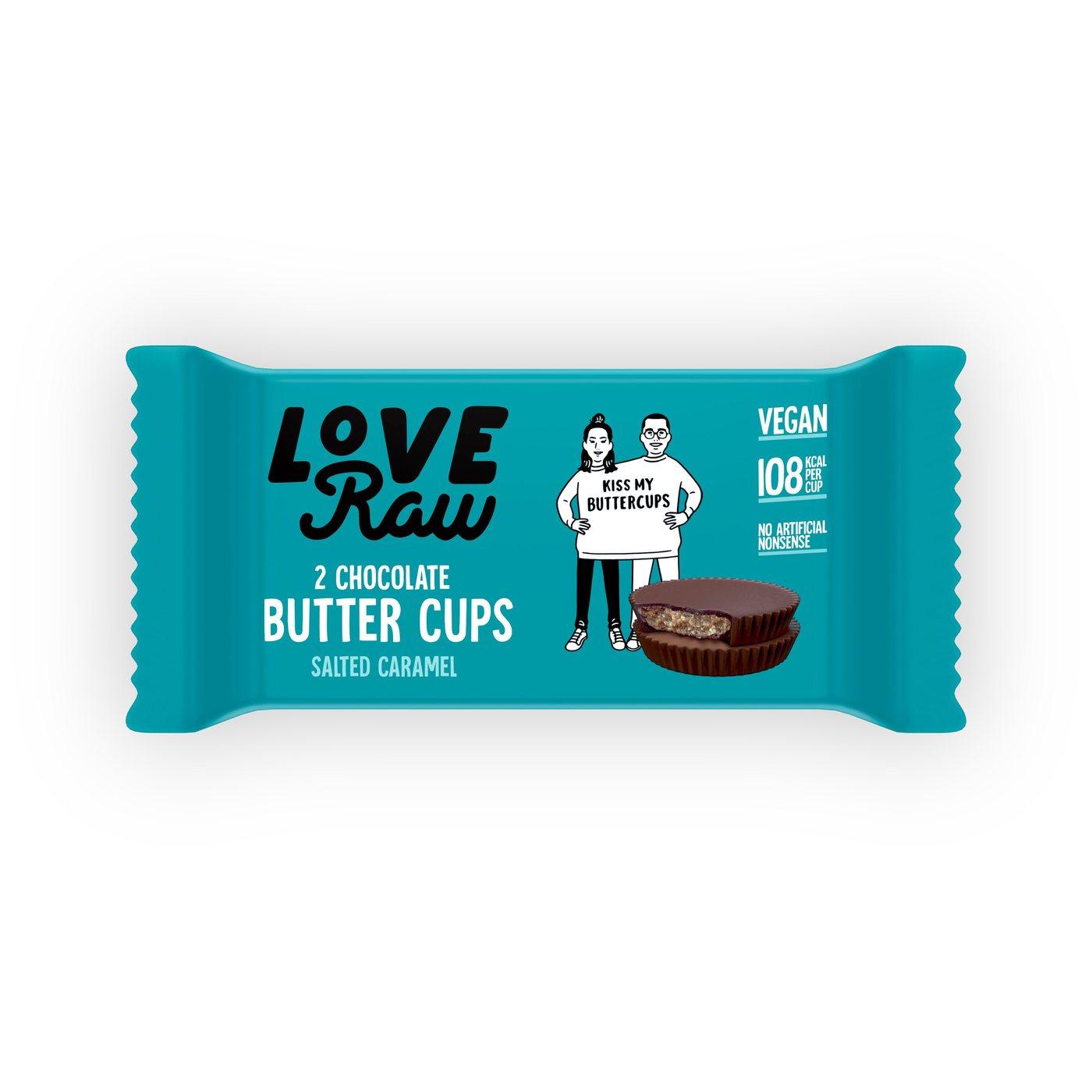 Love Raw vegan salt caramel butter cups 34 gr