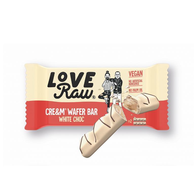 Love Raw white cream filled wafer bar 44 gr