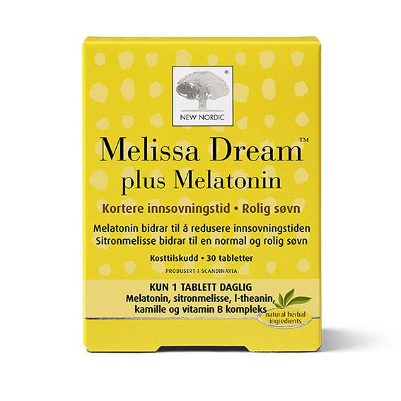 New Nordic melissa dream plus melatonin 30 tab