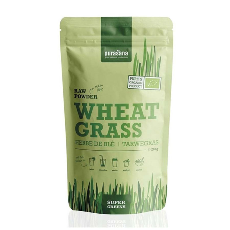 Purasana wheat grass powder 200 gr øko