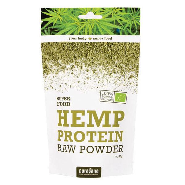 Purasana hemp protein powder 200 gr øko