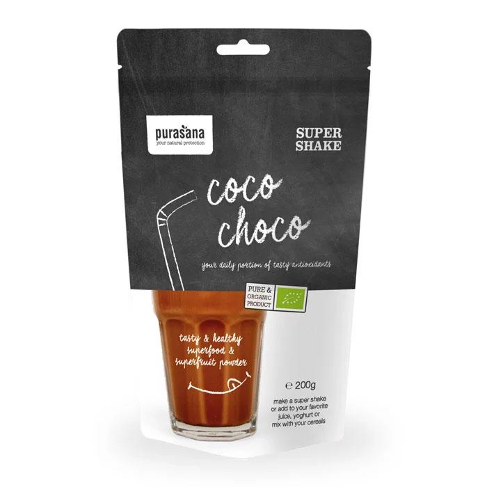 Purasana shake coco choco 200 gr øko