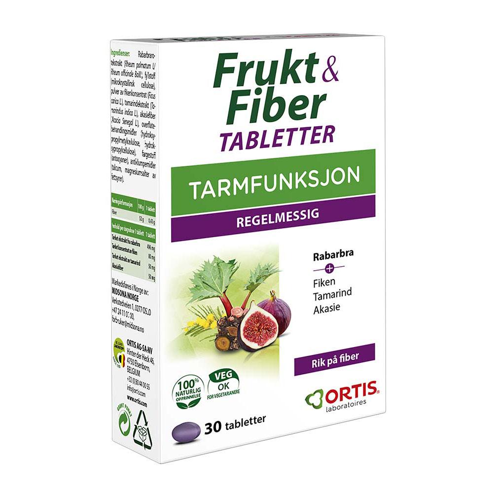 Ortis frukt & fiber 30 tab