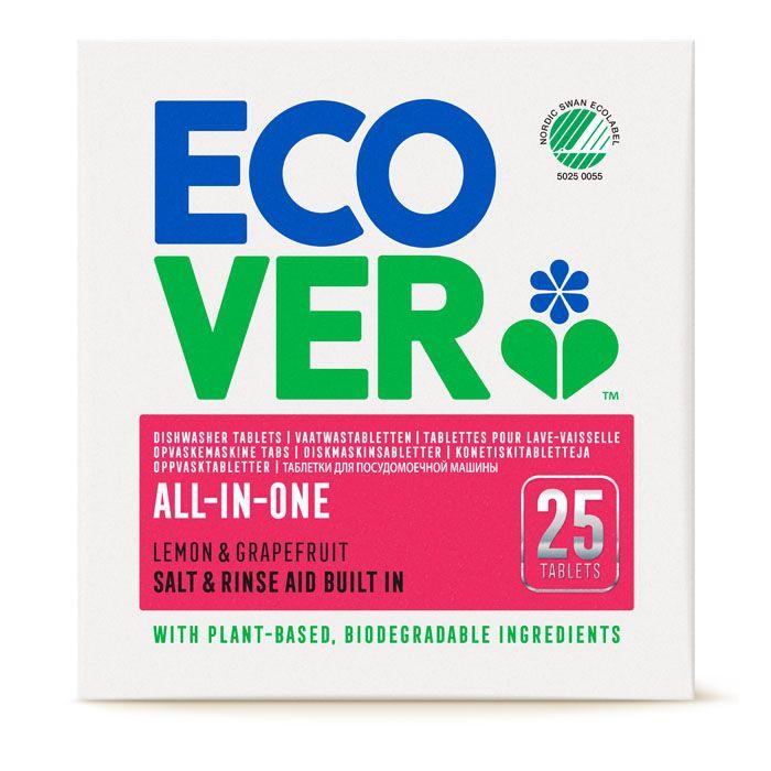 Ecover oppvasktabletter all-in-one 25 stk