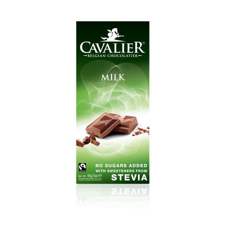 Cavalier stevia milk chocolate 85 gr