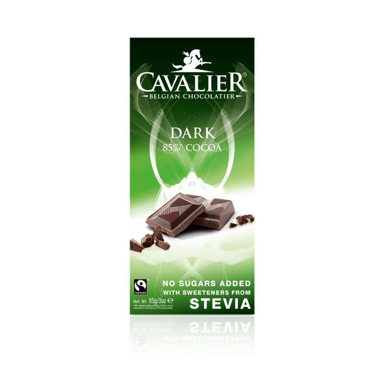 Cavalier stevia dark chocolate 85 gr