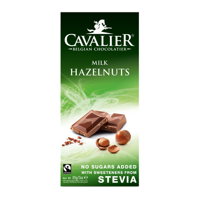 Cavalier stevia milk chocolate hazelnuts 85 gr