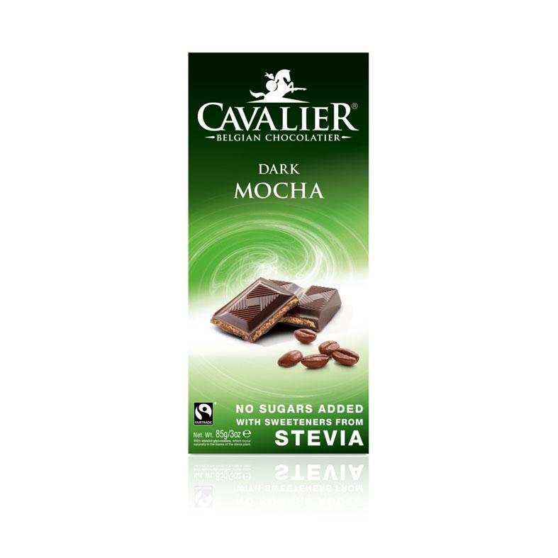 Cavalier stevia dark mocha chocolate 85 gr