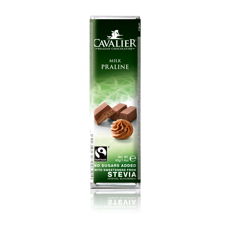 Cavalier 205 stevia milk chocolate praline 40 gr