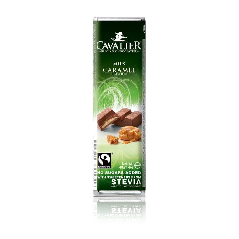 Cavalier 207 stevia milk chocolate caramel 40 gr