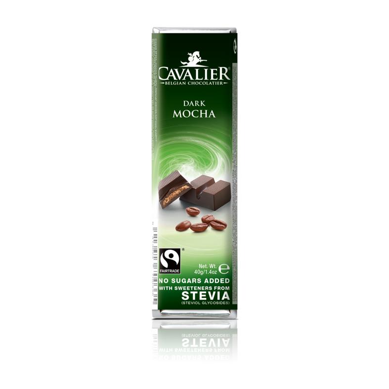 Cavalier 208 stevia dark mocha chocolate 40 gr