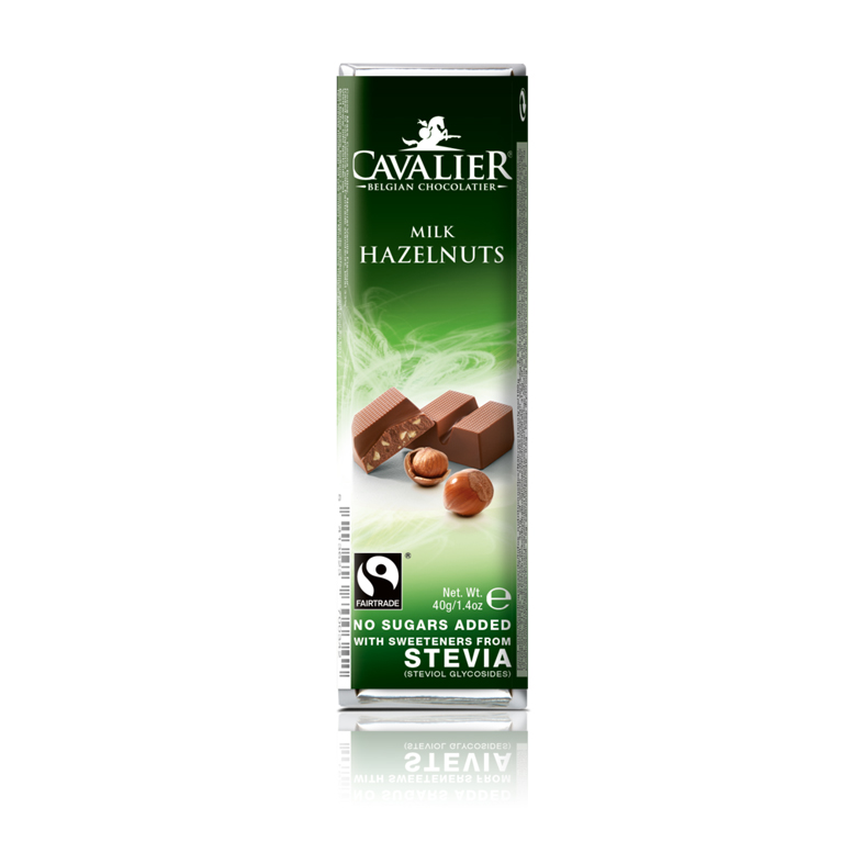 Cavalier 202 stevia milk chocolate hazelnuts 40 gr