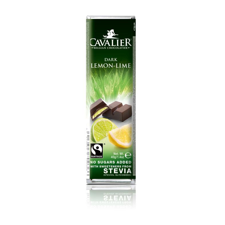 Cavalier 210 stevia dark chocolate lemon lime 40 gr
