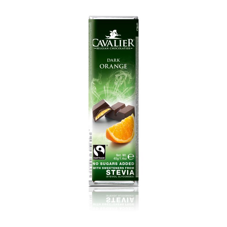 Cavalier 211 stevia dark chocolate orange 40 gr