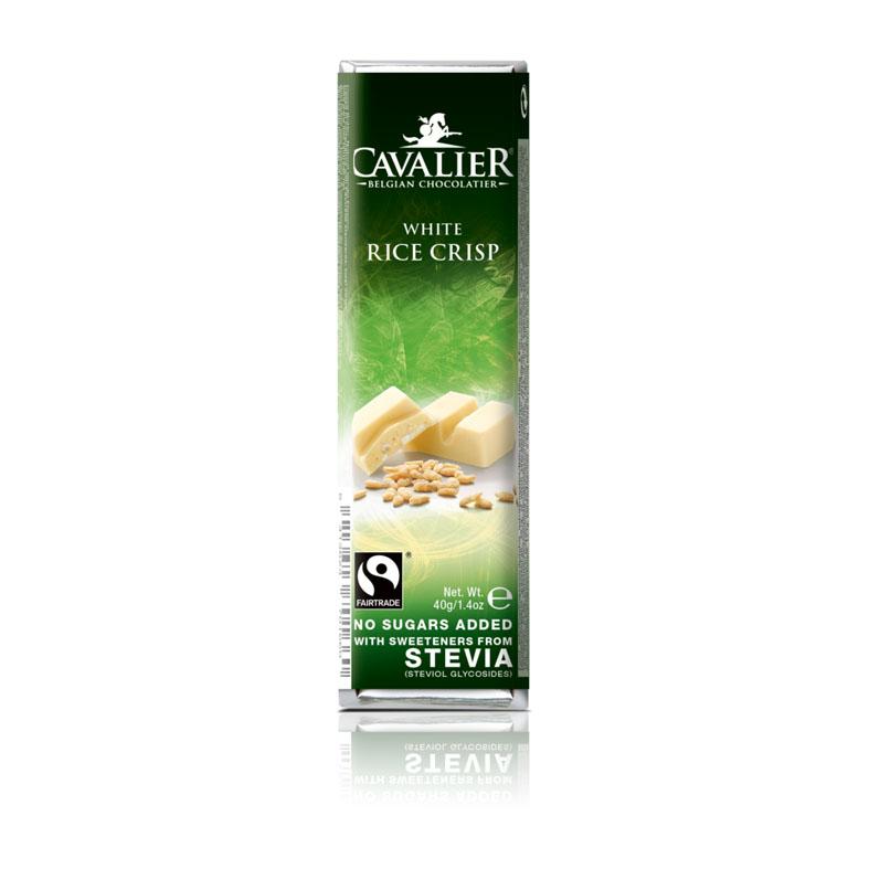 Cavalier 204 stevia white chocolate rice crisp 40 gr