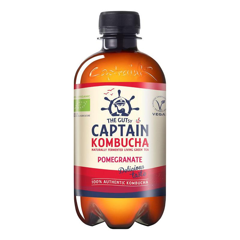 Captain Kombucha pomegranate 400 ml øko