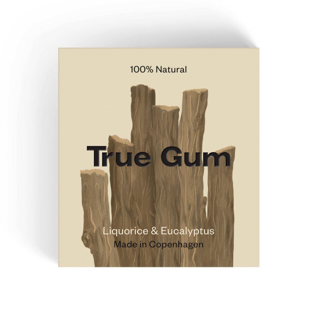 True Gum lakris & eukalyptus tyggegummi 21 gr