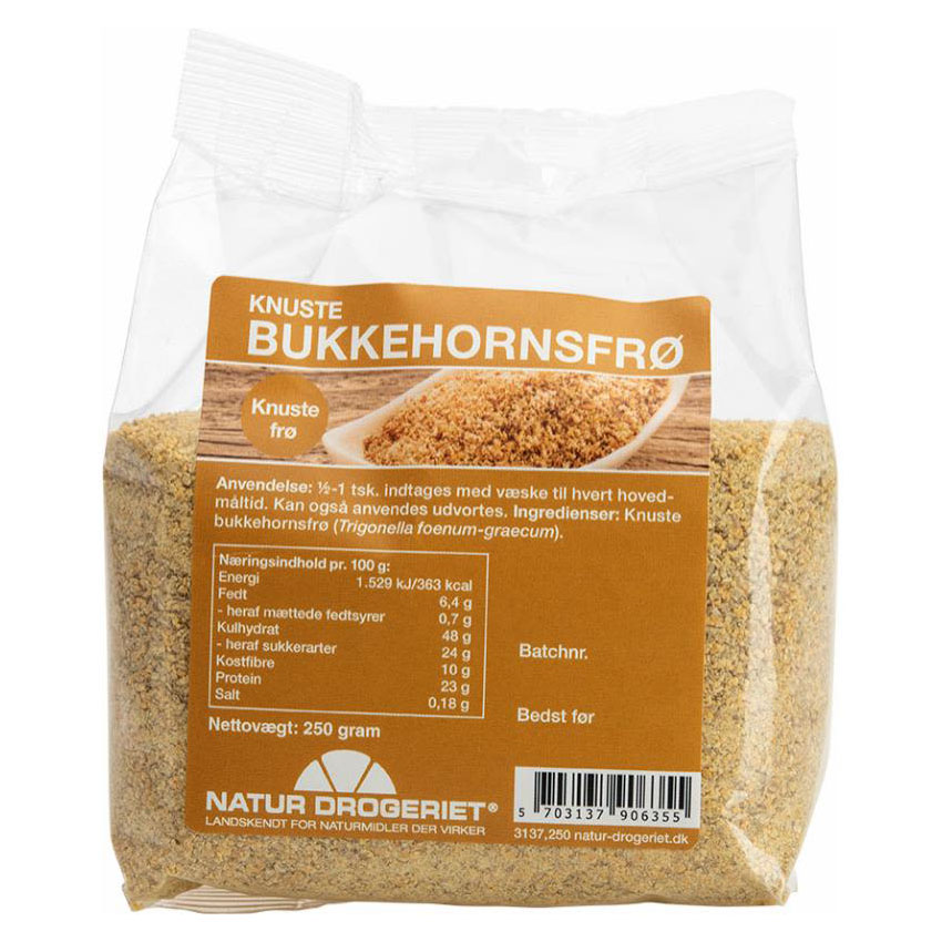 Natur drogeriet knuste bukkehornsfrø 250 gr