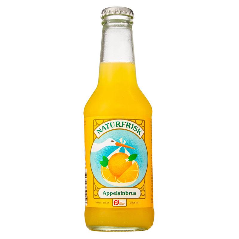 Naturfrisk appelsin brus 250 ml