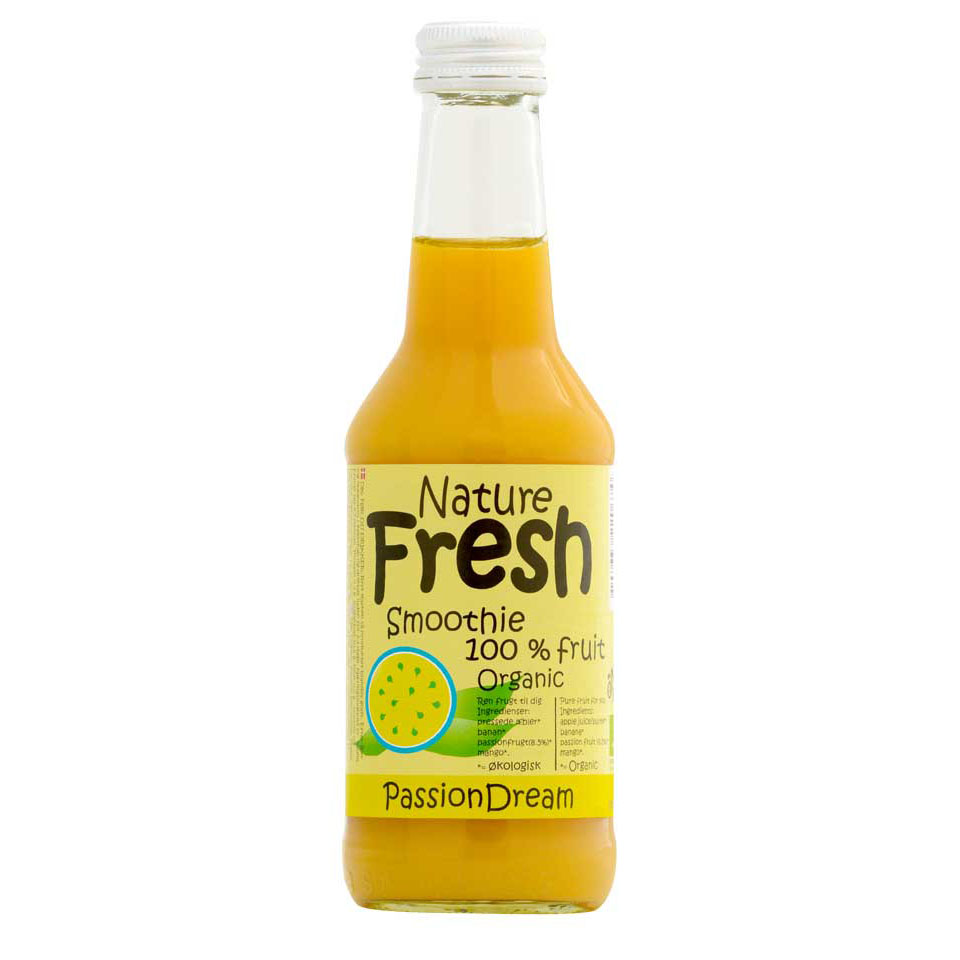 Naturfrisk passionsmoothie u/sukker 250 ml øko